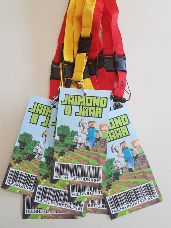Voorbeeld Minecraft VIP uitnodiging