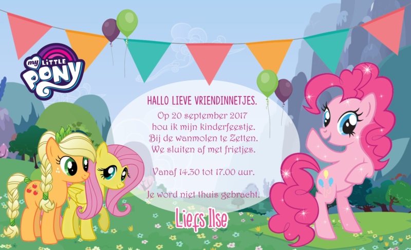 My little pony - Uitnodiging