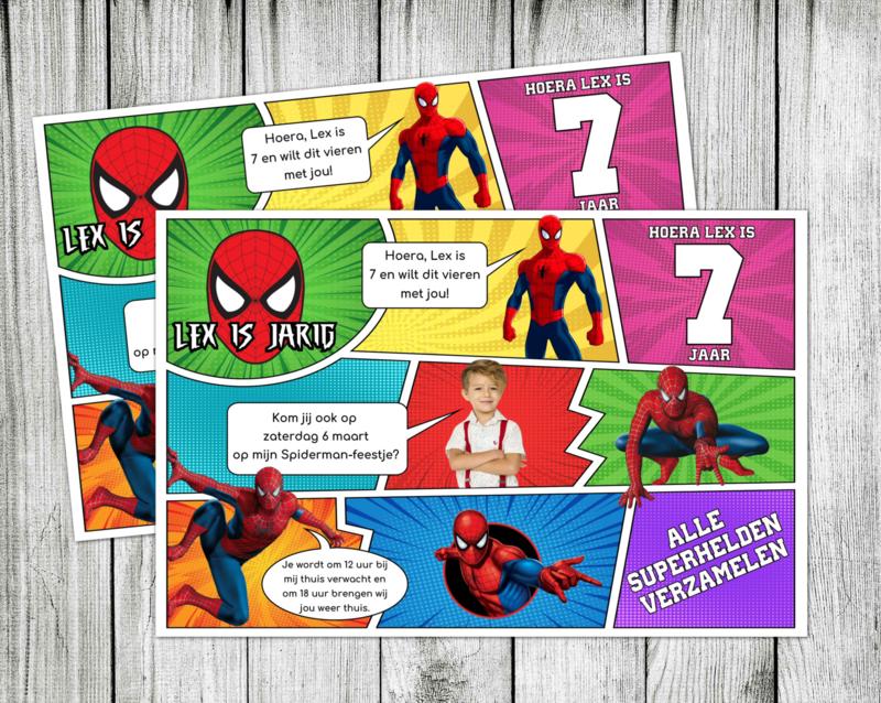 Spiderman Strip Uitnodiging