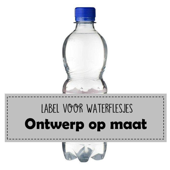 Waterfles labels - ontwerp op maat