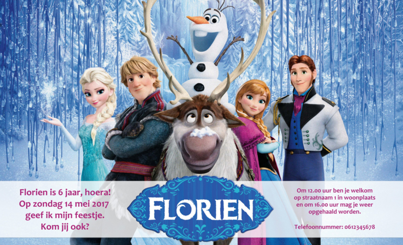 Frozen uitnodiging - A1