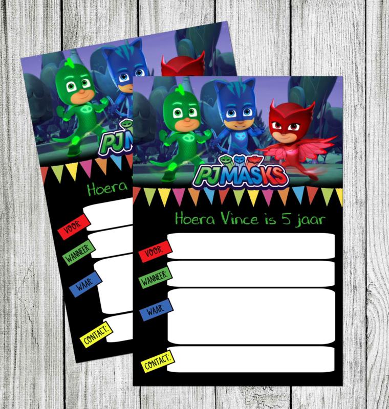 PJ Masks uitnodiging