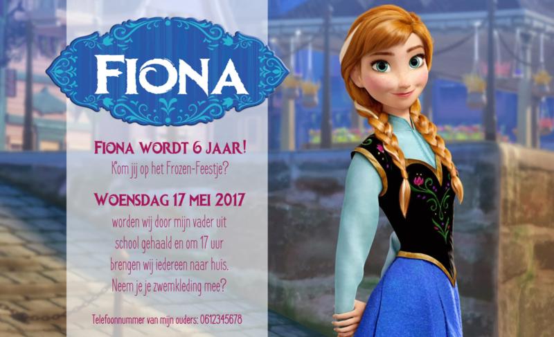 Frozen uitnodiging - A2
