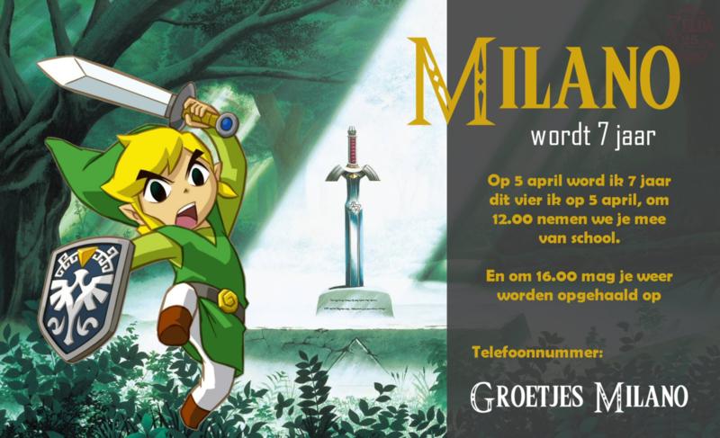 Zelda Link - Uitnodiging 01