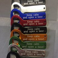 Mini bieropener Keep calm and open a beer