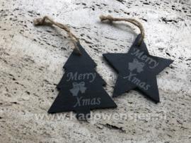Ster of kerstboom Merry Xmas