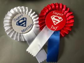 Super Juf/ Super Meester opspeld rozet