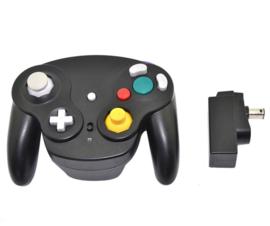 Draadloze Gamecube controller ZWART NIEUW