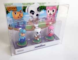 Amiibo 3 pack Protector Splatoon, Mii Fighters and Animal Crossing 3 & more