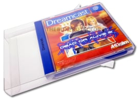 10x Snug Fit Box Protectors For Dreamcast Games 0.4 MM !