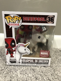 Funko Deadpool on Unicorn Protector