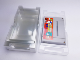 10x Plastic inlay / Inserts Super Famicom Games