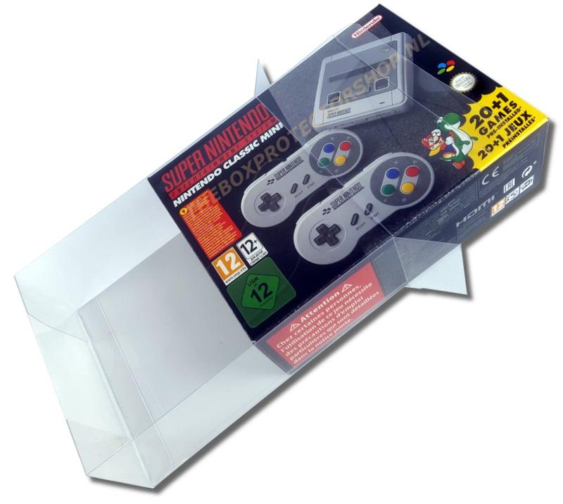 1x Snug Fit Box Protectors For SNES MINI 0.4 MM