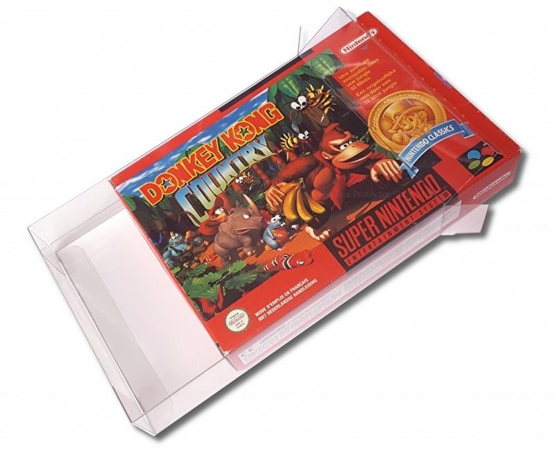 25x Snug Fit Box Protectors For SNES / N64 0.4 MM !