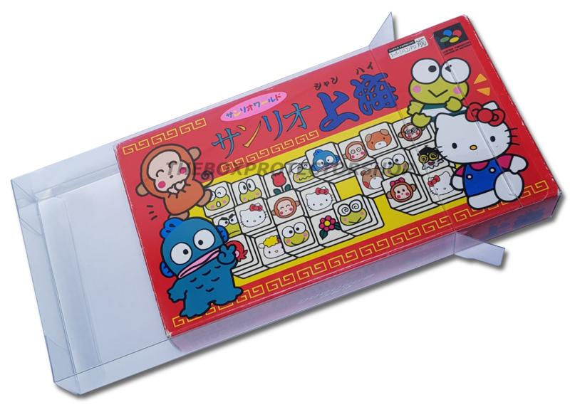 25x Snug Fit Box Protectors For Super Famicom Games 0.4 MM !
