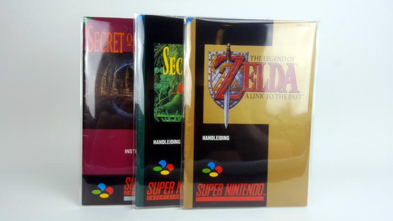 25 x Handleiding / Manual Sleeves for  SNES / N64