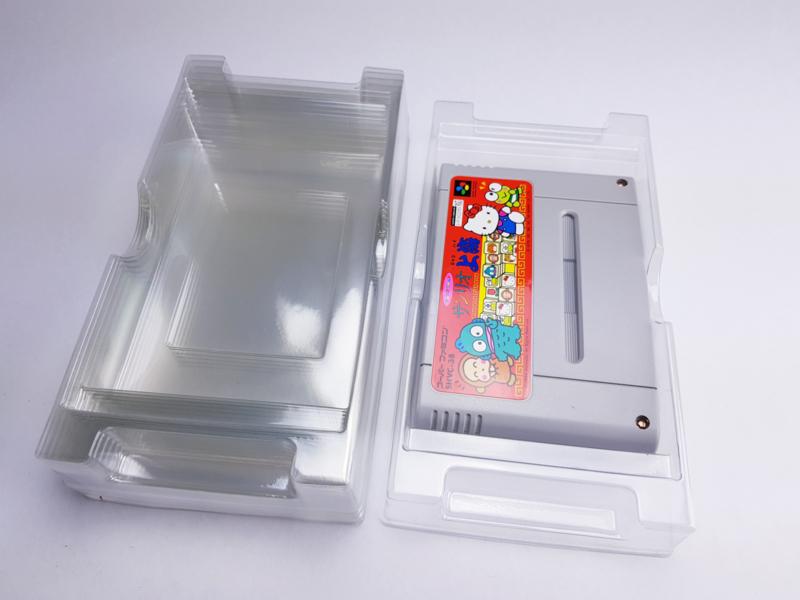 25x Plastic inlay / Inserts Super Famicom Games
