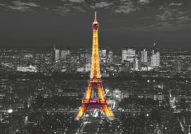 Foto behang Eiffeltoren bij nacht FTS1316