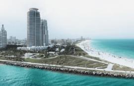 Foto behang Miami Beach CL18A