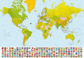 Foto behang World Map 00280