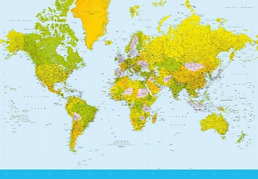 Foto behang Map of the World 00152