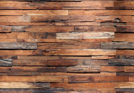 Foto behang Wooden Wall 00150