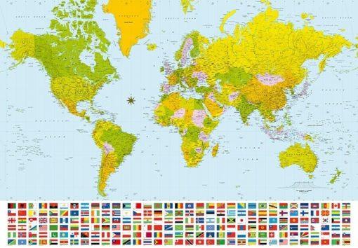 Foto behang World Map 00280