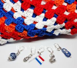 Steekmarkeerders 5 stuks Holland/ Delfts blauw