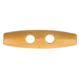 Houten knoop lichtbruin 20mm per stuk