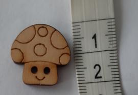 Houten knoop paddestoel 20mm per stuk