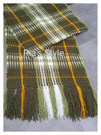 Haak pakket Schotse ruit sjaal in 2 kleuren verkrijgbaar