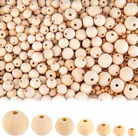 10 houten kralen 10mm