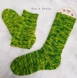 Hand gebreide sokken maat 38/39 Green