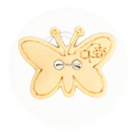 Houten knoop vlinder 10mm per stuk