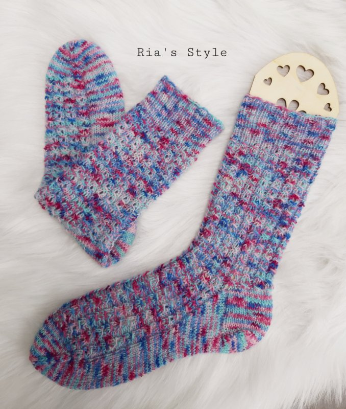 Hand gebreide sokken maat 38/39 Mistral
