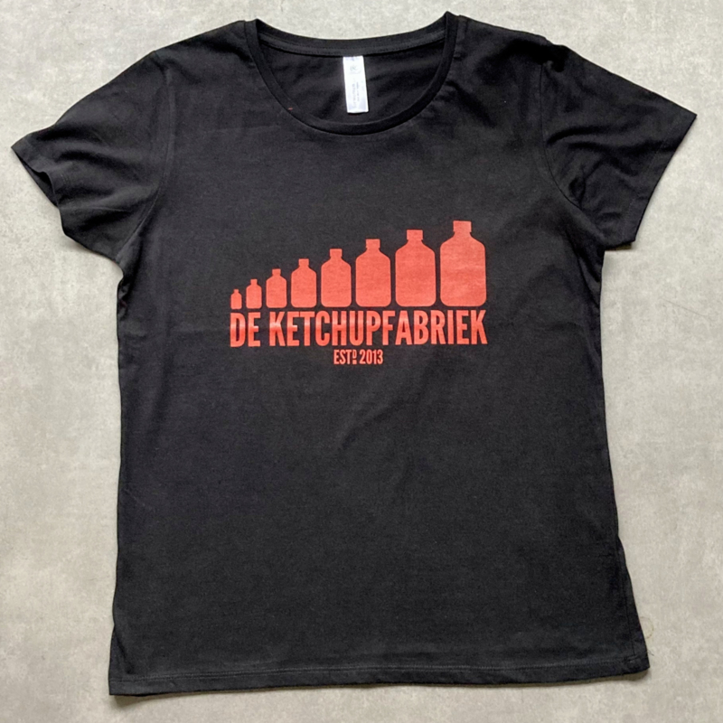 t-shirt DKF zwart [dames]