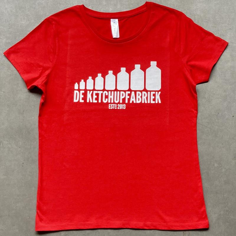 t-shirt DKF rood [dames]