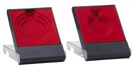 medailledoosje transparant rood -zwart E602
