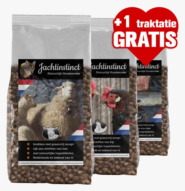 Hondenbrokken Graanvrij (10kg + 1 gratis traktatie)