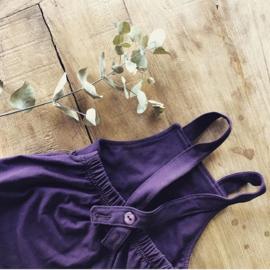 #biokatoen #babyjurkje #jurkje #babykleding #meisje #meisjeskleding #aubergine