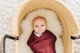 Wikkeldeken Baby Winter | Wijn