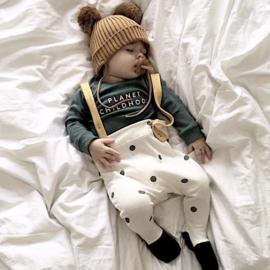 #babykleding #babywinkel #babyconceptstore #babyshop #babystore #kraamkado #kraamcadeau #biokatoen #babybroek #babybroekje #babykleding #tuinbroek #salopette