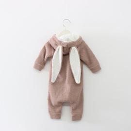 #lala #jumpsuit #bunnysuit #biokatoen #konijn #oudroze