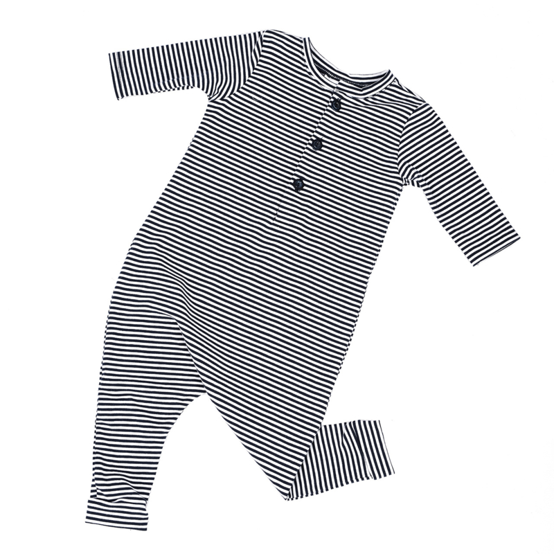Kruippakjes Baby   Playsuit Navy Stripes