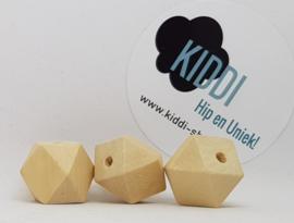 Houten kraal hexagon 20mm