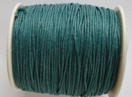 Waxed koord 1mm teal