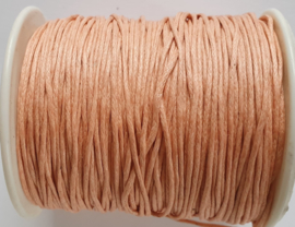 Waxed koord 1mm peach