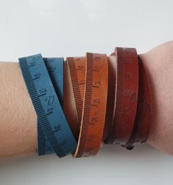 """Leren armband """"ruler"""""""