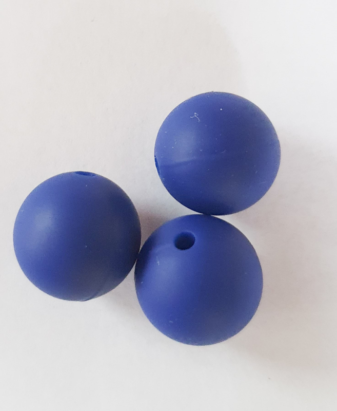 silicone kraal NAVY 15mm