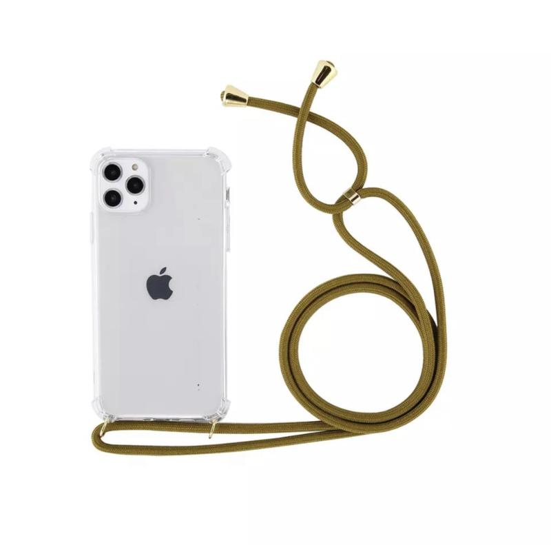 iPhone Case Helder met Koord   Olijf Groen